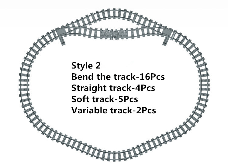 NEW Toys for Children Ausini Building Blocks Rail Tracks for Train Straight & Curved Tracks to Make One Circle Lepin Compatible lepin 21006 compatible builder the maersk train 10219 building blocks policeman toys for children