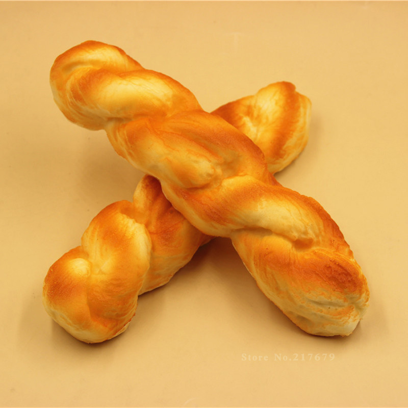 σπάνιο ψιλοκομμένο ψωμί, 21 * 5CM βραχίονα βραχίονα αυξανόμενου καρπού Αρχική διακόσμηση ψωμί MODEL squishies (18PCS LOT) Χονδρικό
