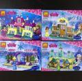 4 unids LELE 37004 Bloques de Construcción de Arendelle Castillo de Cenicienta Princesa Anna Elsa Girls Figura Compatible Legoe Amigos