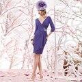 Sexy Бисером V Шеи До Колен матери Невесты Платья формальное Вечернее Платье 2016 Индивидуальные Scoop Пром Платья Vestido де noiva