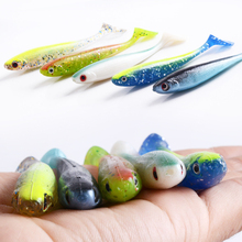 3Pcs/lot Fishing lures 6.2g 9.5cm Soft Worm Lure 3D eyes multiple Colour silicone Artificial Fake Bait fishing wobblers Pesca