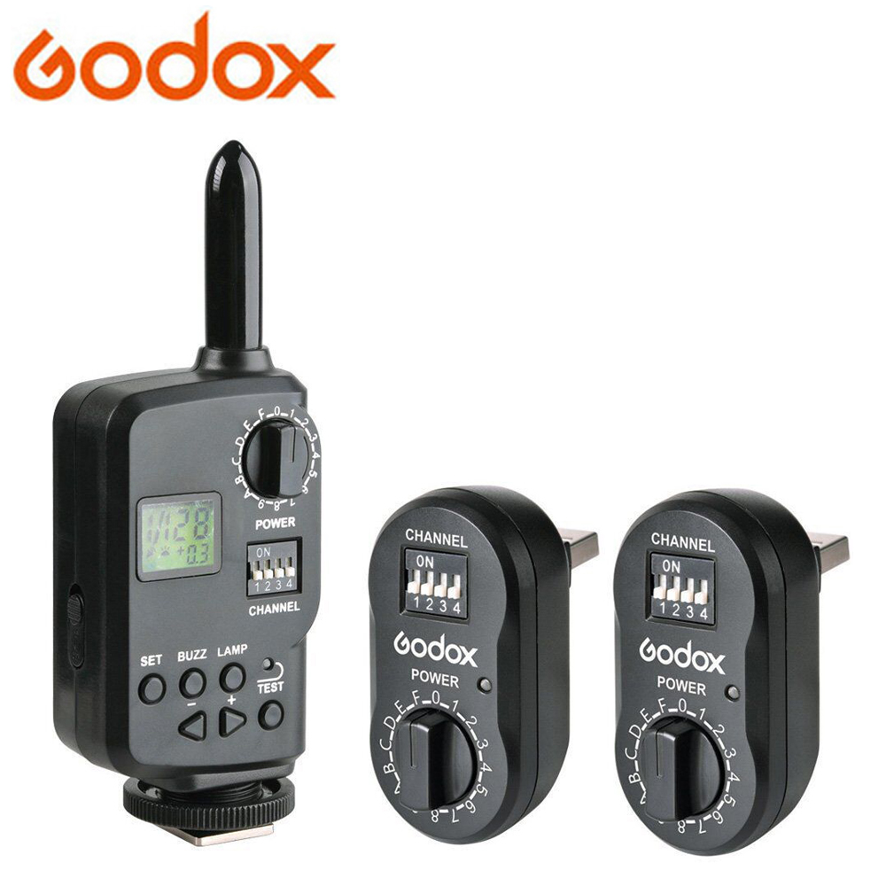 Godox FT 16 Wireless Power Controller Remote Flash Trigger 2x FTR 16 Receiver for Godox Witstro