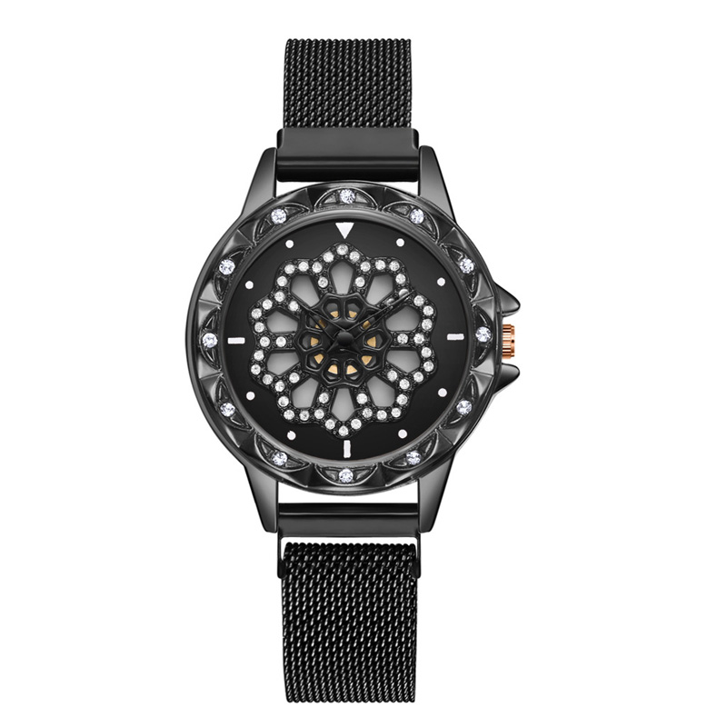 360-degree-rotation-Women-Watch-Mesh-Magnet-Starry-Sky-Ladies-Watch-Luxury-Fashion-Geometric-Quartz-Watch 4