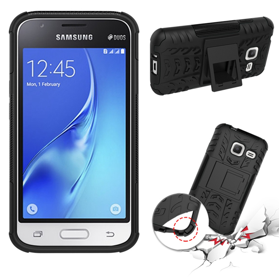 For Samsung Galaxy J1 mini 2016 Case J105 Drop Resistance Cover Holder Kickstand Phone Cases For Samsung J1 Nxt Fitted Case Gift