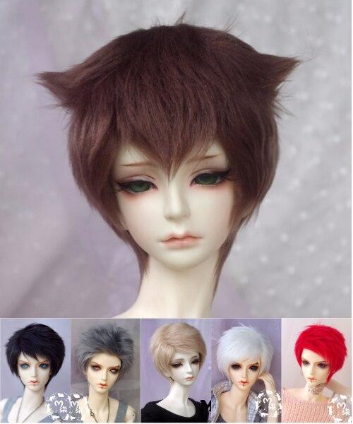 Bjd Doll Wigs Fur Wig Shot Hair 1/12 1/8 1/6 1/4 1/3