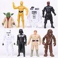 Star Wars 8 unids/set Maul Vader R2-D2 Yoda C-3PO Chewbacca PVC Figuras Juguetes Stormtrooper N04