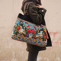 New National Ethnic Embroidery Bags Fashion Chinese Style Embroidered Shoulder Bag Ladies Women S Big Handbag