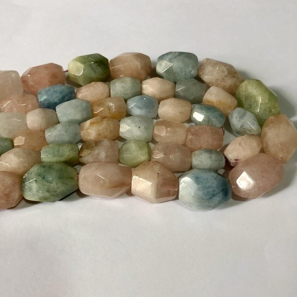 Wholesale 1 of 15.5 Strand,Natural Morganite Beryl Faceted Nugget Beads,Genuine Beryl Gemstone Nugget Bead,Faceted Multi Gem Loose Beads