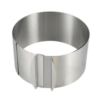 Cake Mold Stainless Steel Mousse Circle Ring Mould Bakeware Retractable Size Adjustable Baking Tool Set Hot
