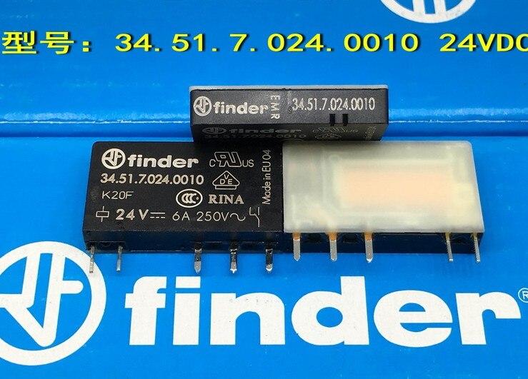 100% оригинальный новый видоискатель 34.51.7.024.0010 34.51.024.4010 6A250V 5 контактов 24VDC реле мощности