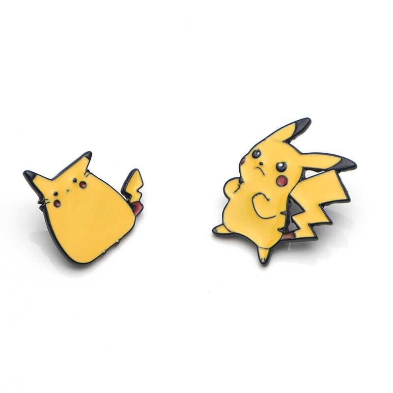 V133 Film Dumbo dan Pikachu Cute Logam Enamel dan Bros Fashion Kerah Pin Tas Ransel Lencana Koleksi Hadiah