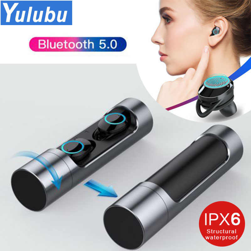 5d2d97a70a9 Touch Control TWS 5.0 Bluetooth 5.0 Earphone EDR Mini Twins Stereo  Microphone True Wireless Earbuds for