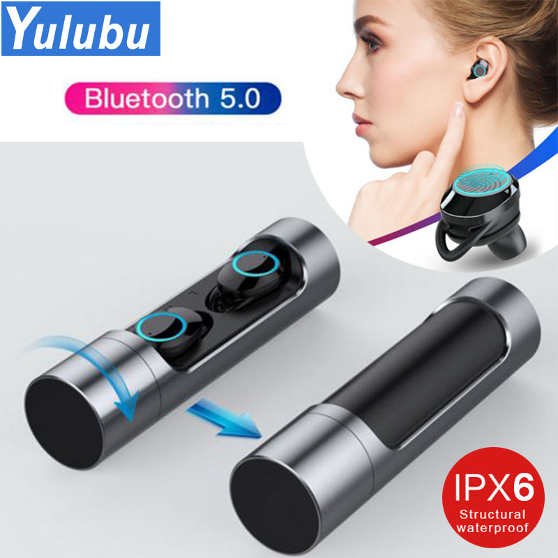 Touch Control <font><b>TWS</b></font> 5.0 <font><b>Bluetooth</b></font> 5.0 <font><b>Earphone</b></font> EDR Mini Twins Stereo Microphone True Wireless Earbuds for All Smart Phone Earpiece image
