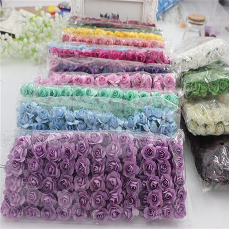 1,5 шт./лот 144 см Искусственный маленький бумага Роза вечерние ручной работы вечеринок Свадебные украшения автомобиля искусственный цветок
