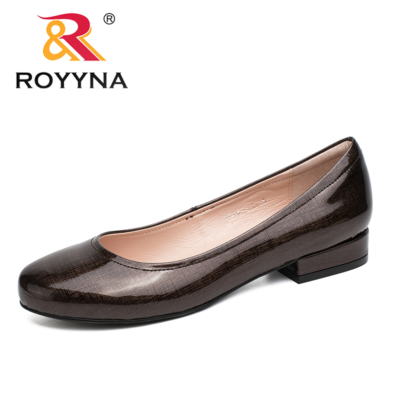 ROYYNA New Arrival Typical Style Women Pumps Shallow Women Shoes Round Toe Lady Wedding Shoes Comfortable Soft Free Shipping royyna new sweet style women sandals cover heel summer gingham women shoes casual gladiator ladies shoes soft fast free shipping