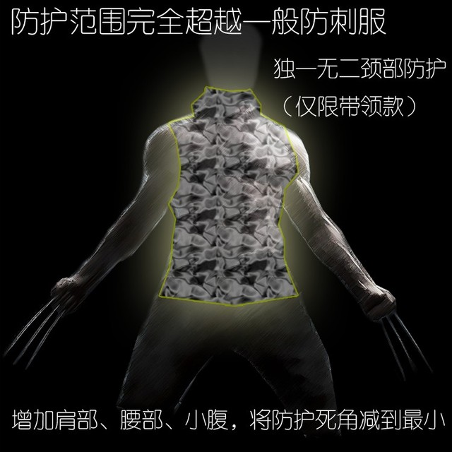 Hard stab service Interfax steel armor vest thin coat of self-defense can prevent a knife -- neck cut