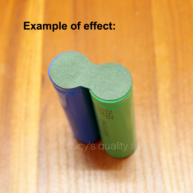 Купить с кэшбэком 100pcs/lot 18650 Lithium Battery Solid Insulation Pad 3S Barley Paper Mesh Pad Green Battery Battery Accessories