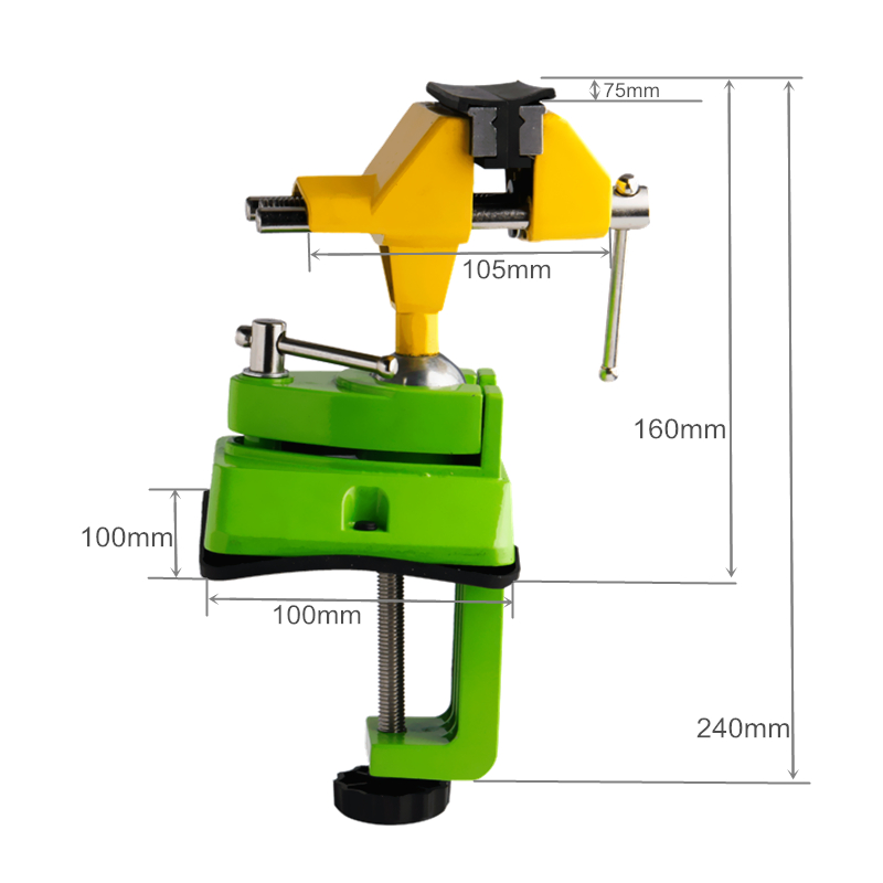 Schraubstock Universal Mini Tabelle Schraubstock Zink legierung 360 Grad Bank Clamp Arbeitstisch Feste Halterung Holzbearbeitungsmaschinen Werkzeuge - 3