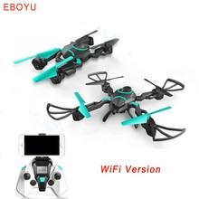 EBOYU(TM) QZ S8 Wifi FPV 720P HD Camera Foldable RC Quadcopter Drone w/ One Key Return & Altitude Hold Function & Colorful Light