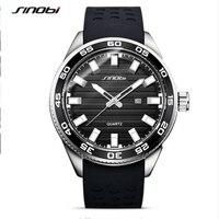 SINOBI Top Brand Luminous Watches Men Waterproof Sport Watch Men Watch Silicone Strap Men's Watch Clock saat relogio masculino