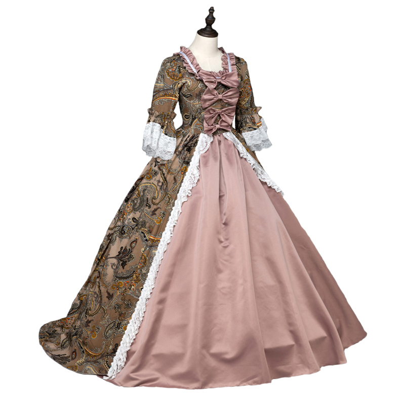 High Quality Southern Belle  Renaissance Georgian Marie Antoinette Colonial Brocade Period Dress Ball Gown Steampunk Clothing