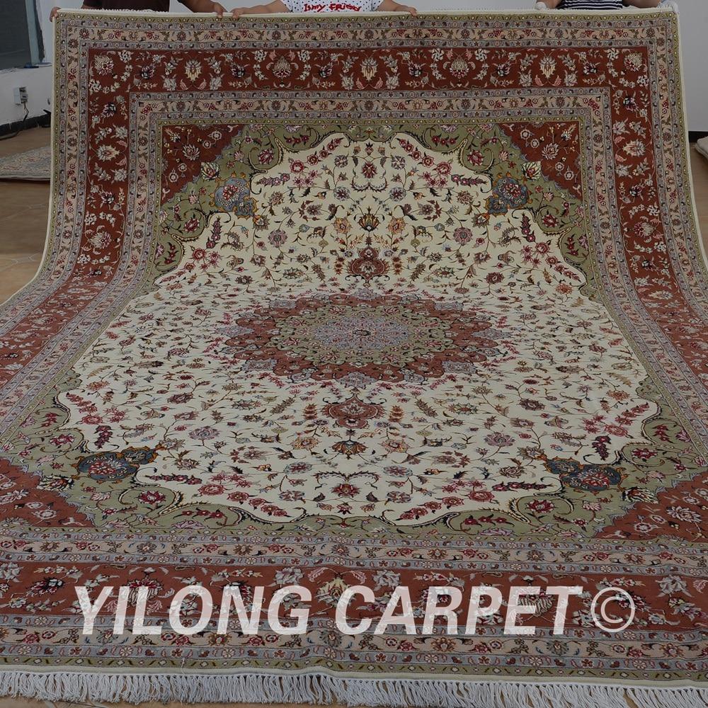Wonderful Yilong 10u0027x14u0027 Pakistan Wool Rugs Pink Handmade Exquisite Best Wool Carpet  Manufacturers (