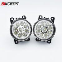2pcs Car Styling Round Front Bumper LED Fog Lights For Acura ILX Sedan 4 Door 2013