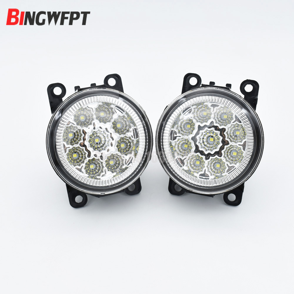 2pcs Car Styling Round Front Bumper LED Fog Lights For