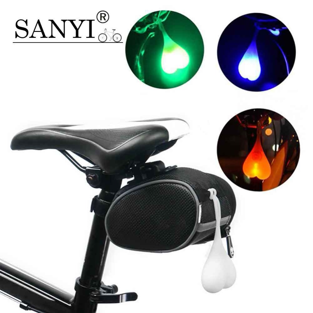 New Bicycle Seat Back Egg Lamp Waterproof Night Cycling Light Bike Tail Silicone Light Bicycle Seat Back Love Warning Lights Cycling