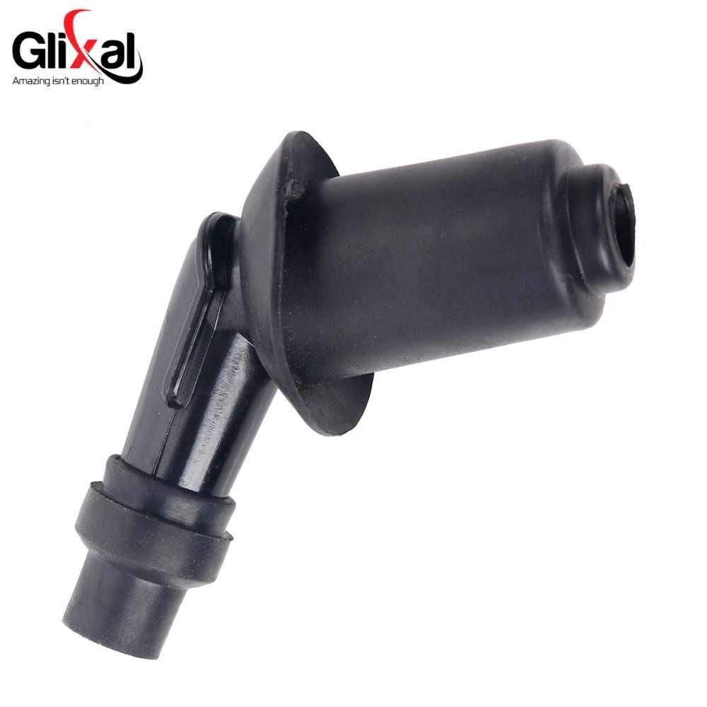 Glixal GY6 49cc 50cc 125cc 150cc Pengapian Coil Spark Plug Cap untuk 139QMB 152QMI 157QMJ Moped ATV Go Kart Quad mesin Skuter