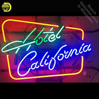 Neon Sign for Hotel California Neon Bulb sign handcraft Glass tube Beer Bar Pub Room windows Dropshipping neon bar lights Home