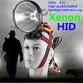 Faróis HID 55 W 100 W 220 W caça Xenon instalação Simples farol Xenon 100 w Super brilhante holofote ao ar livre lanterna 220 w