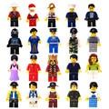 20 unids ladrillos figuras juguetes santa rey pirata bombero diy juguetes de harry potter