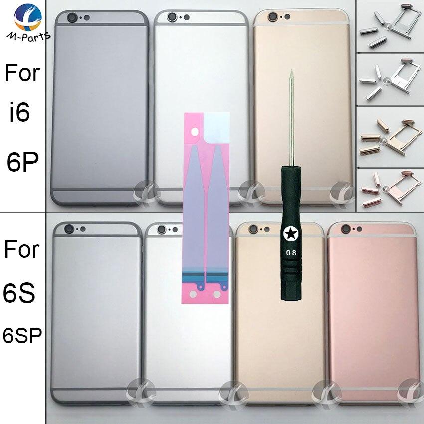 Für iPhone 6 6 S 6 Plus 6 S 6 S Plus OEM AAA Metall Fall Batterie Abdeckung Rahmen Gehäuse mitte Chassis Deckel Fall Körper Können Anpassen IMEI