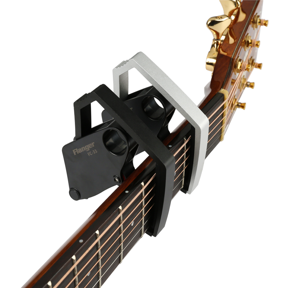 Flanger FC-33 Nouvelle Mécanique Structure Acoustique Guitare Électrique Capo Avenir Quick Change Clamp En Alliage D'aluminium + 3 en 1 Cadeau Pick