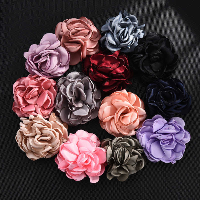 Hàn Quốc 8 Cm Nhân Tạo Hoa Hồng Vải Hoa Phụ Kiện Tóc Chất Liệu Hoa Giả Túi Phụ Kiện Móc Khóa Hoa Giả cho DIY