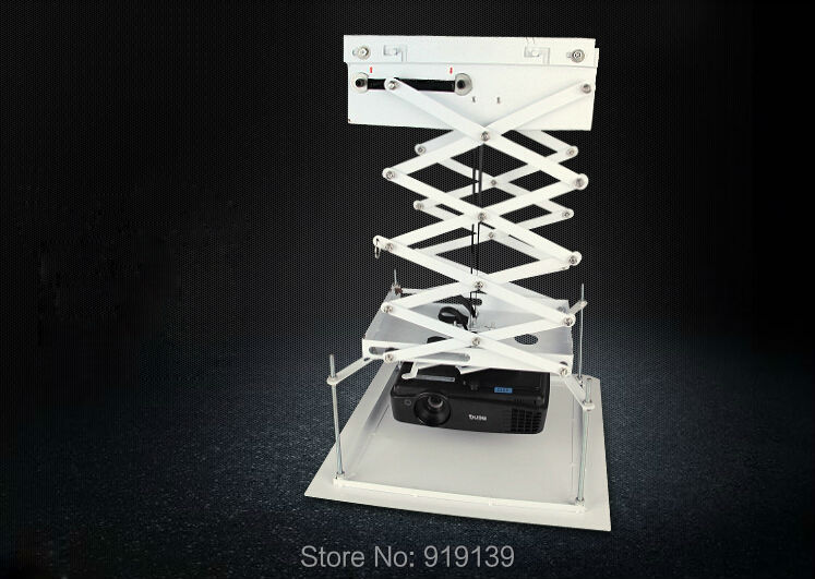 AC100V To 120V Electric Projector Lift With Remote Control Beamer Bracket Support Custom For Movie Theater