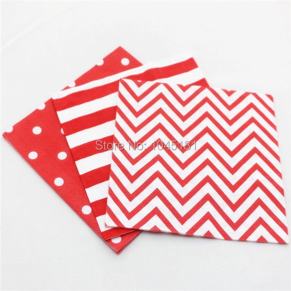ipalmay Free Shipping 33*33*2 CM Baby Shower Wedding Decoration Napkins Serviettes Striped Party Paper Napkins