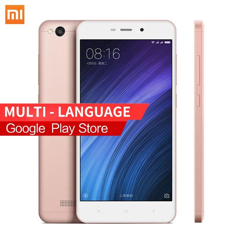 """Original Xiaomi Redmi 4A Mobile Phone Snapdragon 425 Quad Core CPU 2GB RAM 16GB ROM FDD LTE 4G 5.0"""" 720P 13.0MP MIUI8.1 3120mAh"""