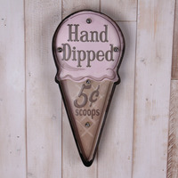 Hand Dipped Ice Cream LED Neon Signs Illuminated Signage Cake Bakery Shop Wall Decor Hanging Metal