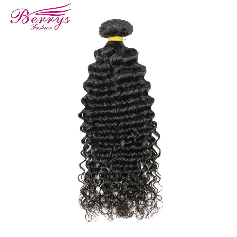 berrys Fashion Brasilianische Tiefe Welle Haar-webart Bundles 1 Teil/los 100% Menschenhaar Extensions 12-26 natürliche Farbe Remy Haareinschlagfaden Clear-Cut-Textur Sinnvoll