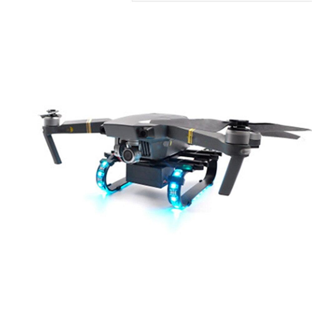 Train d'atterrissage étendu de LED coloré pour DJI Mavic Pro Platinum Drone accessoires pièces hauteur Extender jambe LED lampe de nuit
