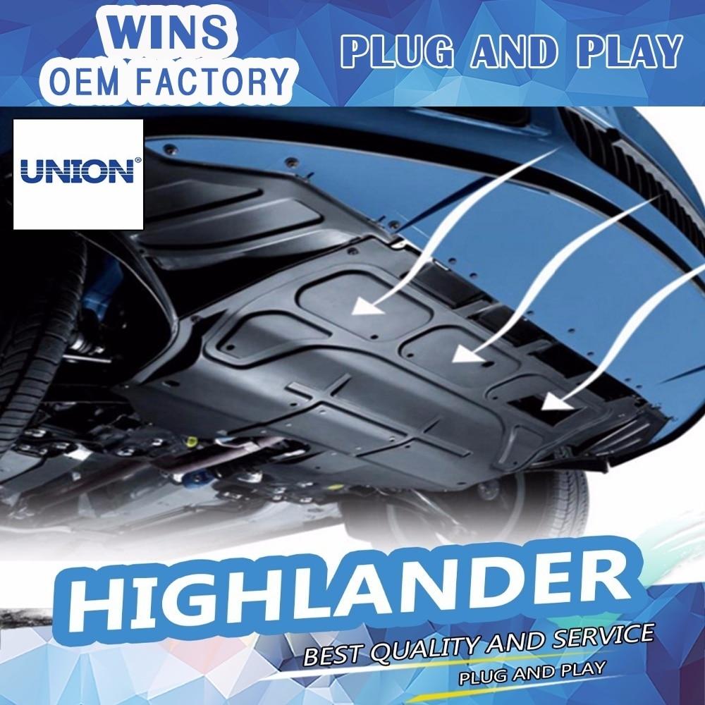 Car styling Plastic engine guard 2008-2015 For Highlander Engine skid plate fender alloy steel engine guard Car Acces