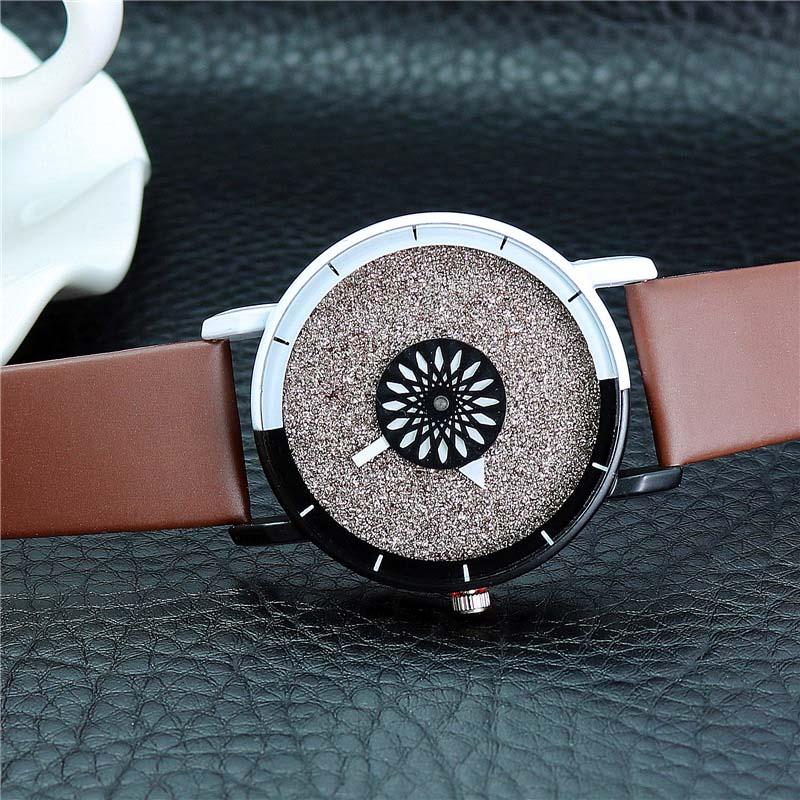 Unik Kvinnor Armband Klocka Enkel Casual Dubbelfärg Flash Dial Watch - Damklockor - Foto 5