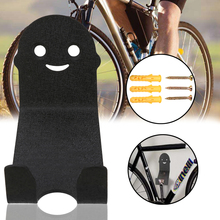 1Pcs High Quality Bicycle Wall Mount Storage Hanger Carbon Steel Cycle Bike Pedal Padlocks Holder Accessory Black