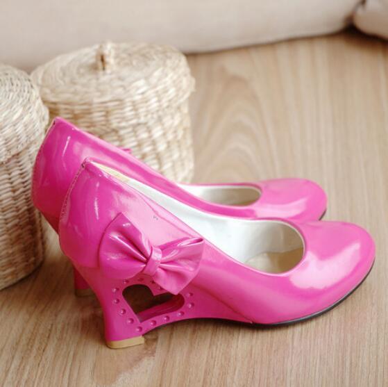2016 Color Bombas Impermeable De Nuevo Zapatos Plataforma Red Arco Caramelo Mujeres rosy blanco Del amarillo Las Negro 00r1F