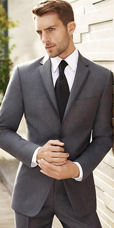 As Image Smokings Veste Mariage Gris Meilleur 2015 other Same Hommes Marié Cran Pantalon D'affaires Blazers Costumes Cravate Chart Revers Costume De Color TUwnwdqA