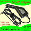 Автомобильный адаптер питания постоянного тока  зарядное устройство 19V 3.42A для ноутбука Asus 5 5*2 5 MM 65W Вход DC11-15V max 10A  бесплатная доставка