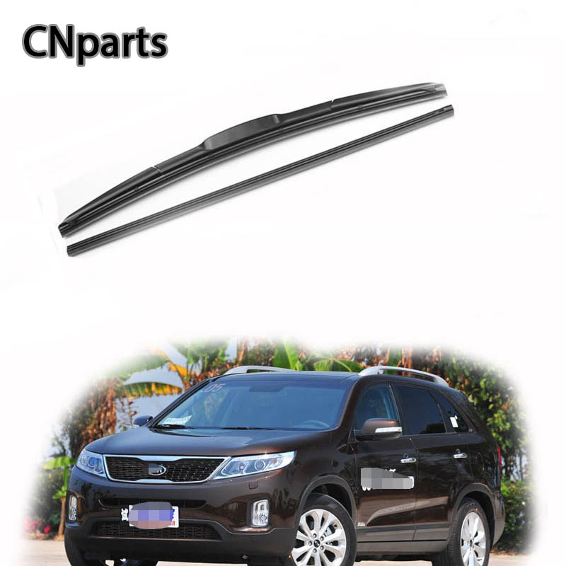 2018 Kia Sorento Exterior: CNparts Car Windshield Rubber Front Wiper Blades Arm Kit