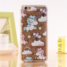 Glittering Unicorn Printed Soft Phone Case for iPhone